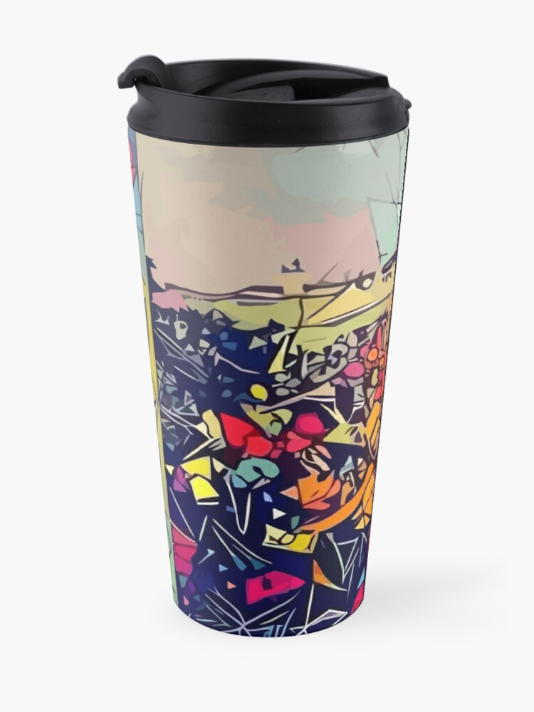 Alternate view of Abstract To Pimp A Butterfly Travel Mug