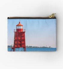 Two Wisconsin Lighthouses Studio Pouch