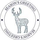 Season's greeting with deer by Marishkayu
