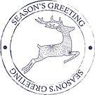 Season's greeting stamp by Marishkayu