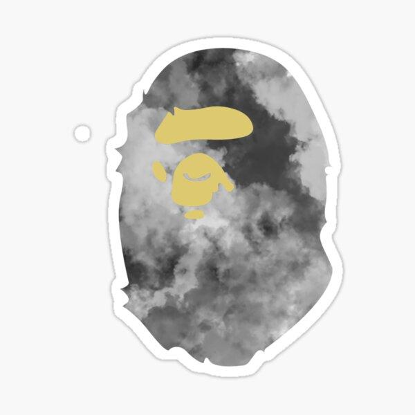 CLOUD BAPE APE Sticker