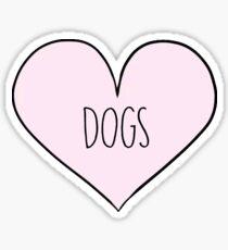 Heart dogs Sticker
