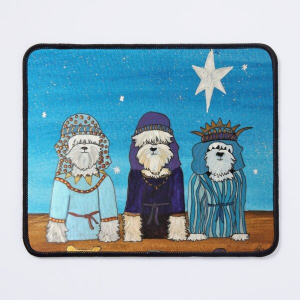 Tibetan Terrier Weihnachten 2019 - We Three Kings Mauspad
