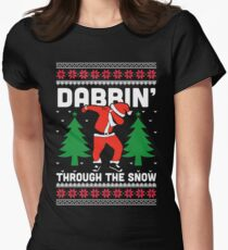 Dabbin Through The Snow Women's Fitted T-Shirt