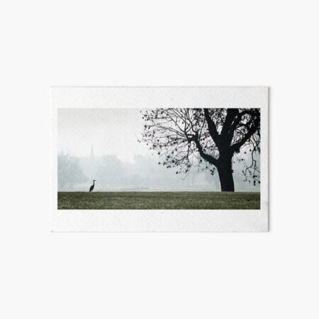 Heron on Westbridge Park Art Board Print