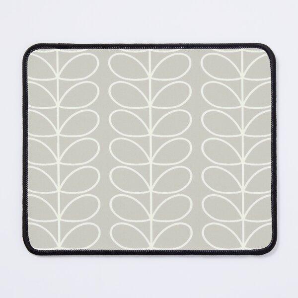 orla kiely, linear stem, silver, white,02. Mouse Pad