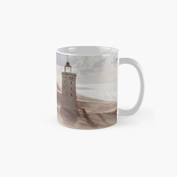 Sandstorm at the lighthouse Classic Mug