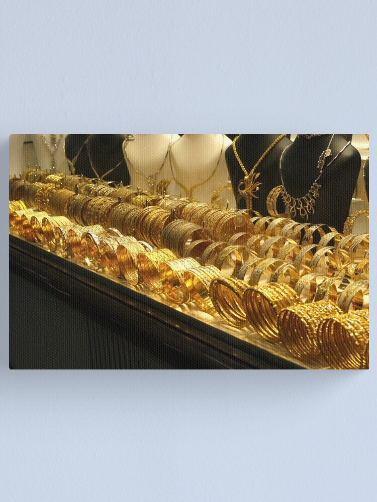 Alternate view of Gold, gold, gold! Canvas Print