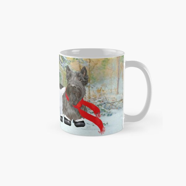 Westie and Scottie Wintertime Classic Mug