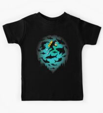 Screwed | Funny Shark and Diver Illustration Kids Tee