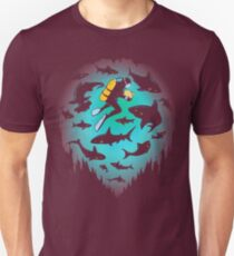 Screwed | Funny Shark and Diver Illustration T-Shirt