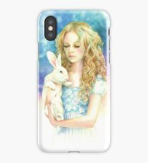 Alice and the Rabbit iPhone Case/Skin