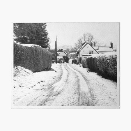 Old Road in the Snow Art Board Print