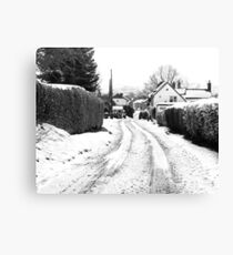 Old Road in the Snow Canvas Print