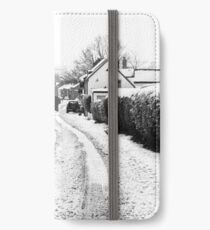 Old Road in the Snow iPhone Wallet/Case/Skin