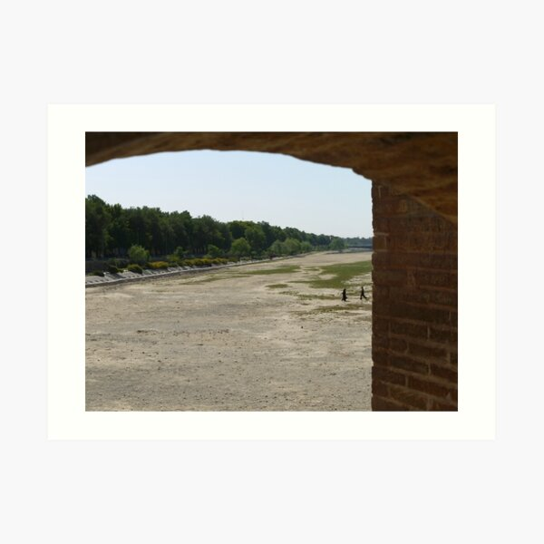 Zayandeh - who needs a bridge any more? Art Print