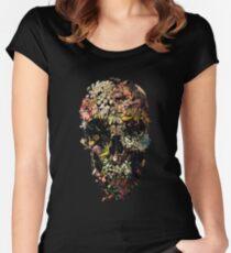 Camiseta entallada de cuello redondo Cráneo de Smyrna