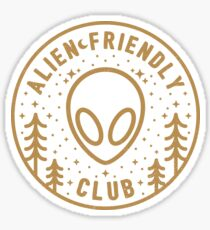 Alien Friendly Club Sticker