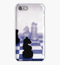 chess pieces in purple iPhone Case/Skin
