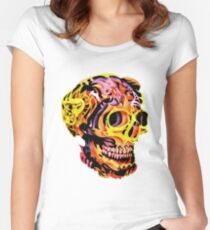 Skull V Women's Fitted Scoop T-Shirt