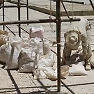 Masjed-e Shah restoration - plaster again by Marjolein Katsma