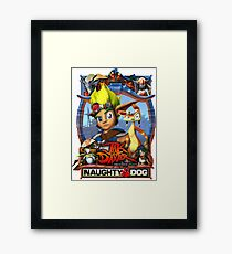 Jak & Daxter - Promo Poster Framed Print