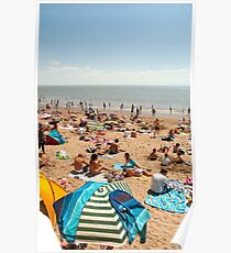 Busy Beach Poster