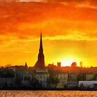 Wexford Town, Ireland at Sunset by David Carton
