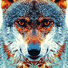 Wolf - Colorful Animals by raquelcatalan