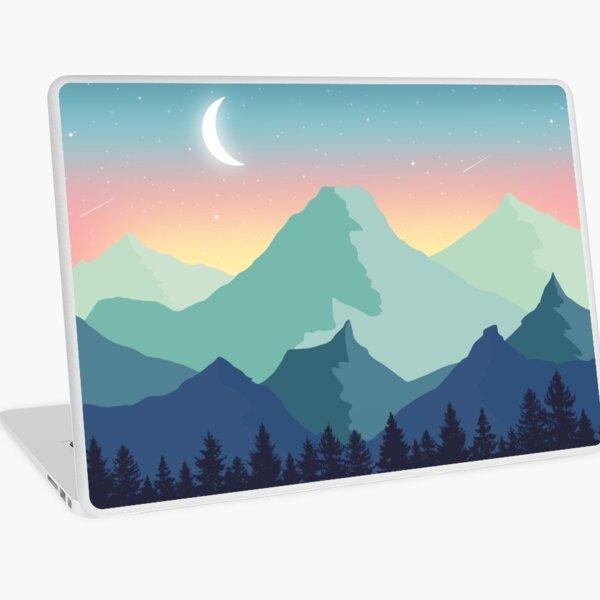 Clam Mountain Landscape Laptop Skin