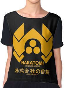 NAKATOMI PLAZA - DIE HARD BRUCE WILLIS (YELLOW) Chiffon Top
