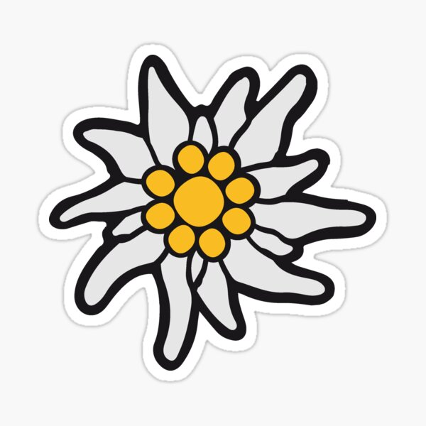 flower nature flowers edelweiss mountains alps bavaria oktoberfest fun beer drinking symbol germany germany Sticker