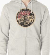 The Official Cafe Racer TV Logo Zipped Hoodie