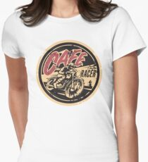 The Official Cafe Racer TV Logo Women's Fitted T-Shirt