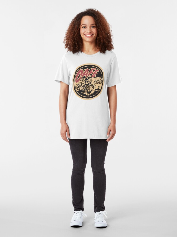 Alternate view of The Official Cafe Racer TV Logo Slim Fit T-Shirt