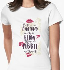 Better A Diamond Womens Fitted T-Shirt