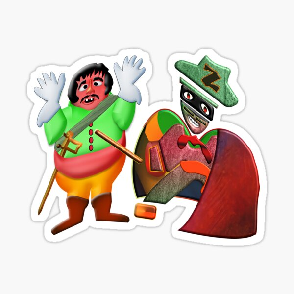 THE LEGEND OF ZORRO IN HIS NEW ADVENTURES FOR KIDS - ZORRO VS SERGEANT GARCIA - HALLOWEEN PARTY - CHRISTMAS PARTY - SUPER FUN GIFT FOR THE HOLIDAYS5. Sticker