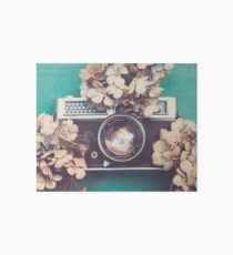 Camera & Hydrangea Art Board
