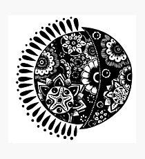 Original Sun and Moon  Photographic Print
