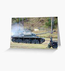 Centurion Tank firing .50 caliber machine gun Greeting Card