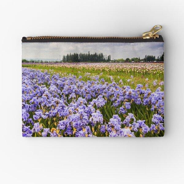 Bearded Iris Field Zipper Pouch