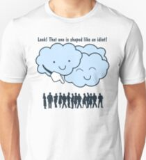 Cloud Mocks Human Shapes Funny Cartoon Unisex T-Shirt