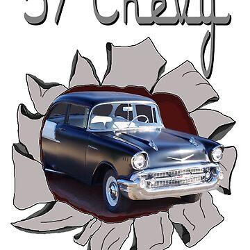 57 Chevy Breakthrough by seansdigitalart