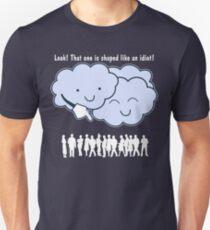 Cloud Mocks Human Shapes Funny Cartoon T-Shirt