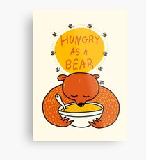 Hungry As A Bear (colored) Metal Print