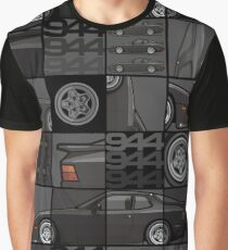 Black 1986 P 944 951 Turbo (US spec) Graphic T-Shirt