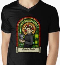 Tesla: The Electric Jesus Mens V-Neck T-Shirt