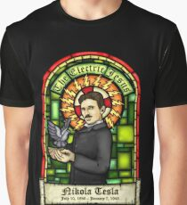 Tesla: The Electric Jesus Graphic T-Shirt