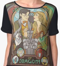 Flight of Dragons Chiffon Top
