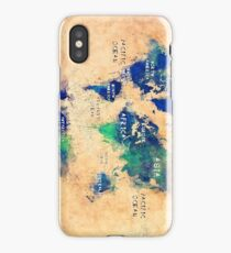 world map oceans and continents 2 iPhone Case/Skin